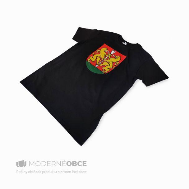 Pánske tričko s veľkým erbom - čierne