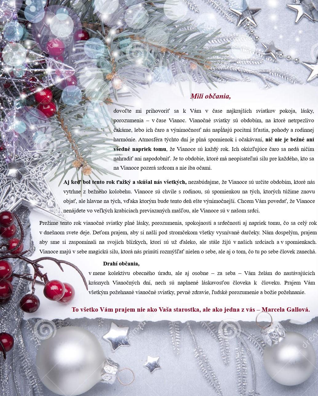 Vianočný_príhovor
